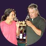 Dégustation du vin avec Ulrike et Roland Hoppenstedt