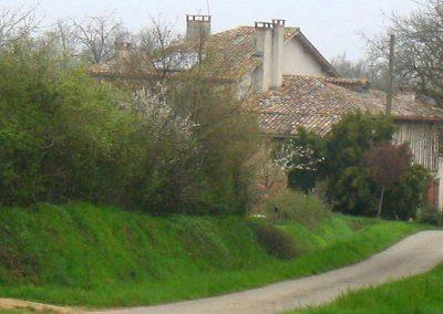 Le chemin menant au Domaine de Maillac
